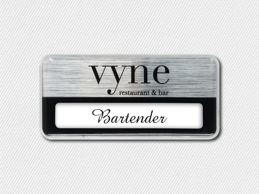 Custom Restaurant and Bar Name Badges